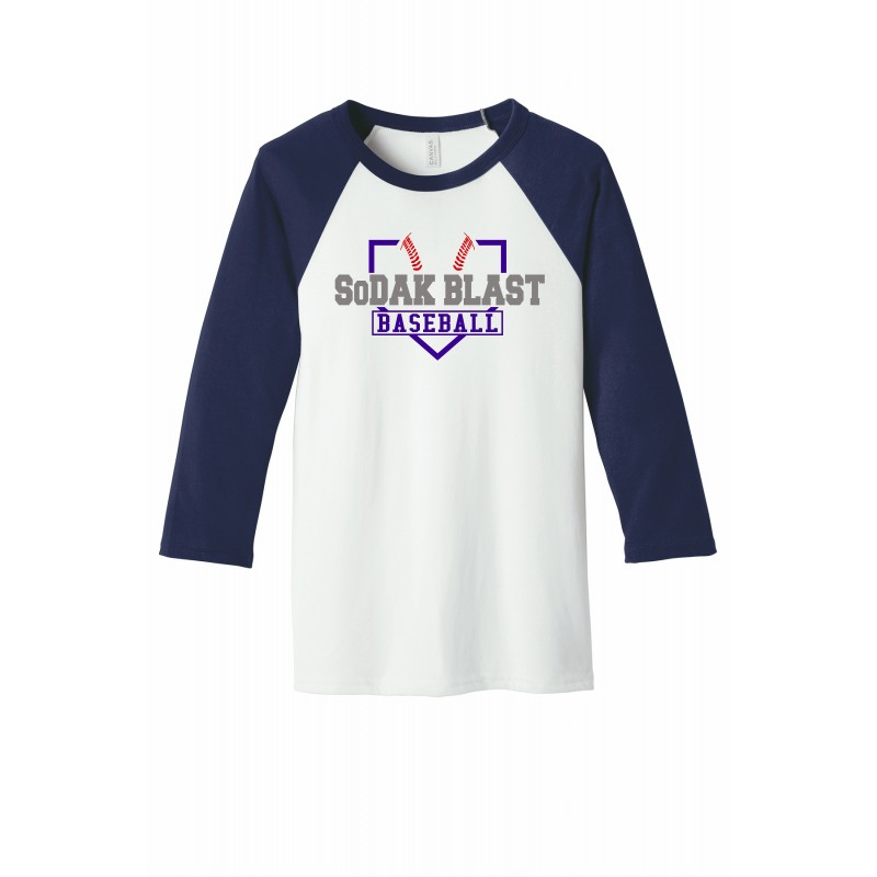 Bella Baseball 3/4 sleeve