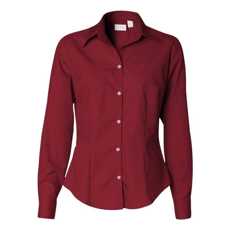 13V0114 Van Heusen - Women's Silky Poplin Shirt